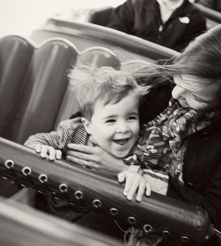 First Rollercoaster Goofy's Barnstormer