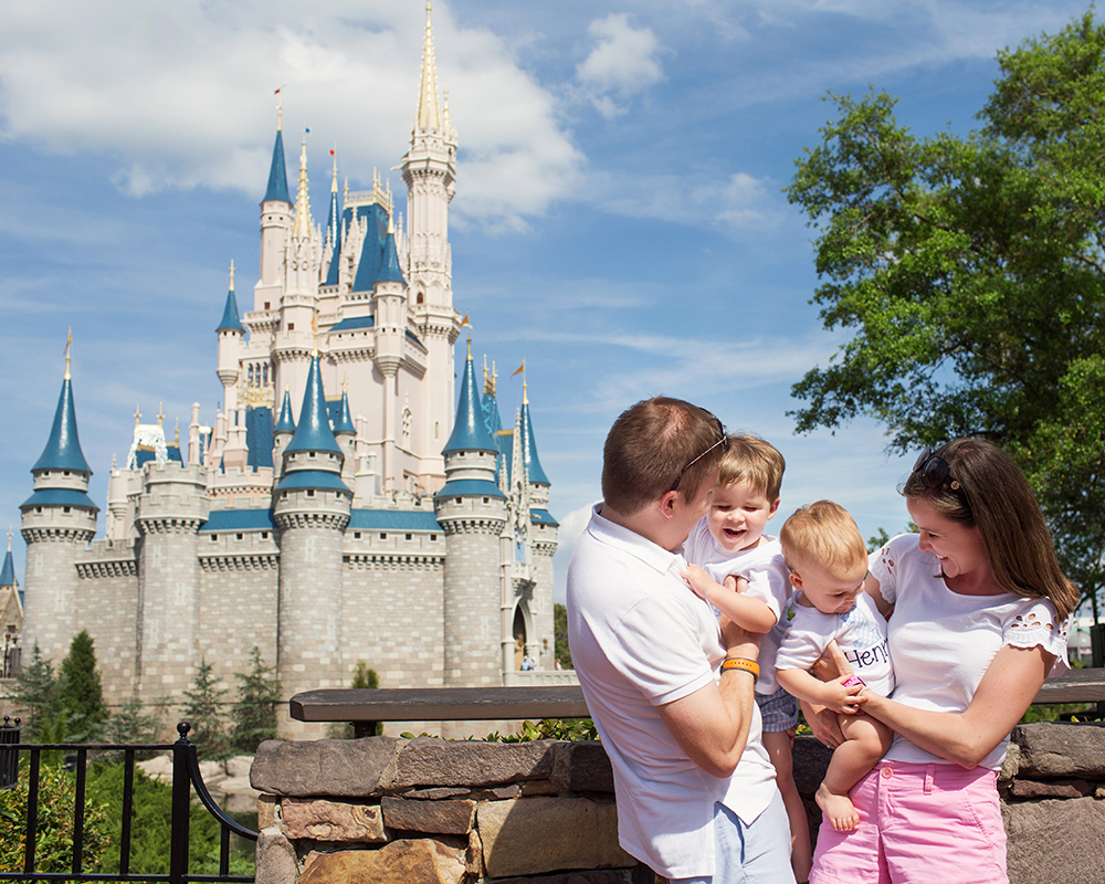 Disney Magic Kingdom Family Portraits
